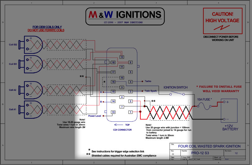 mwp12 78 spark tech ignitions info hotline! evolutionm mitsubishi m&w ignition wiring diagram at bayanpartner.co